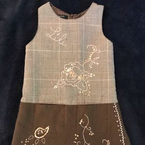 Lili Gaufrette logo dress: pair w/ turtleneck 6yrs